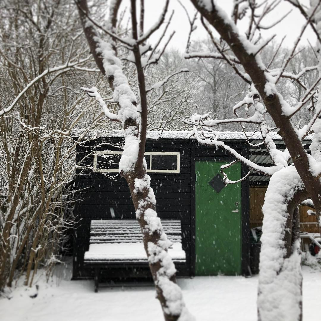 Hrligt med sn!  visiting friend karlskrona snow sweden Continuehellip