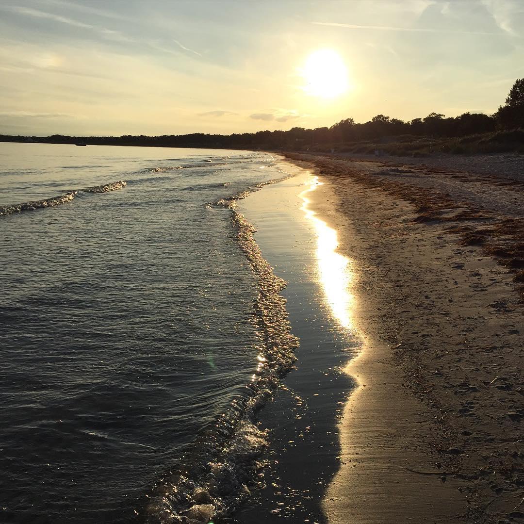 Nya fr mig favoritstranden  nice evening walk kmpinge swedenhellip